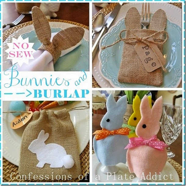CONFESSIONS OF A PLATE ADDICT No-Sew Bunnies and Burlap for Spring