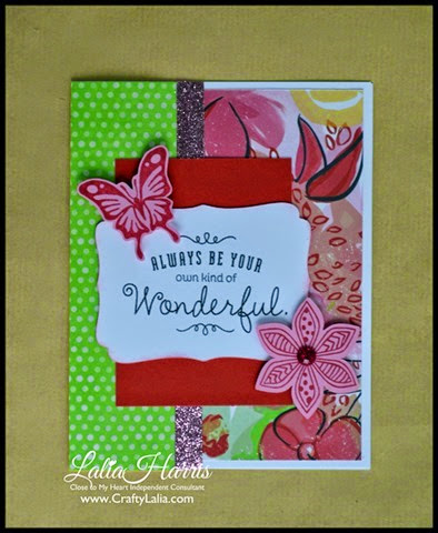 Card with CTMH Brushed paper and Pretty Petals C1599 by Lalia Harris