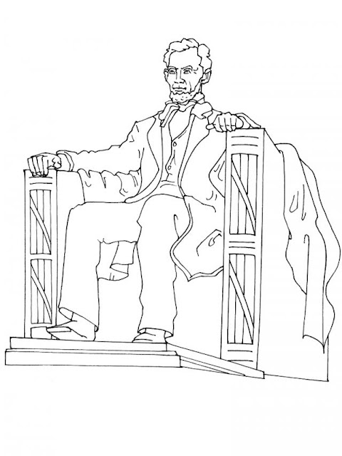 Lincoln memorial coloring page for Lincoln memorial coloring page