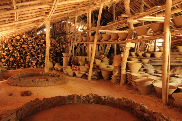Pottery Shed in Twante, Iyerawaddy delta, Burma