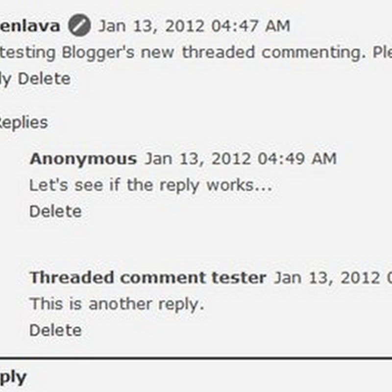 How to enable threaded comments on Blogger