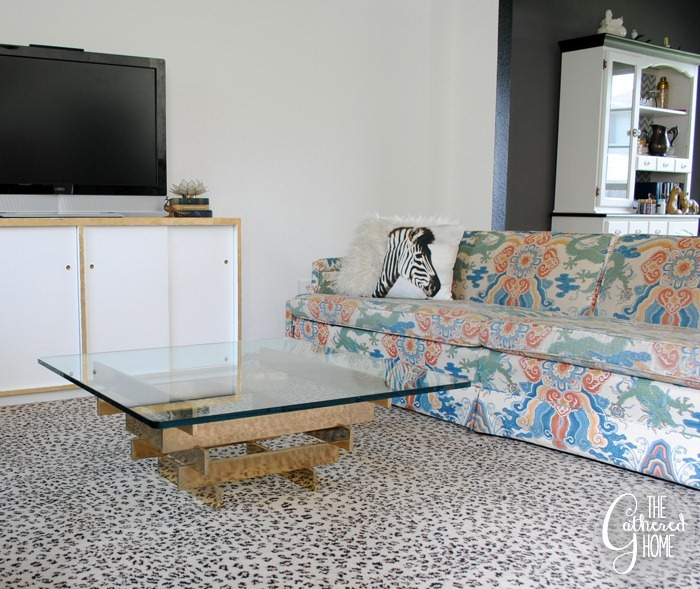 vintage brass stacked coffee table7