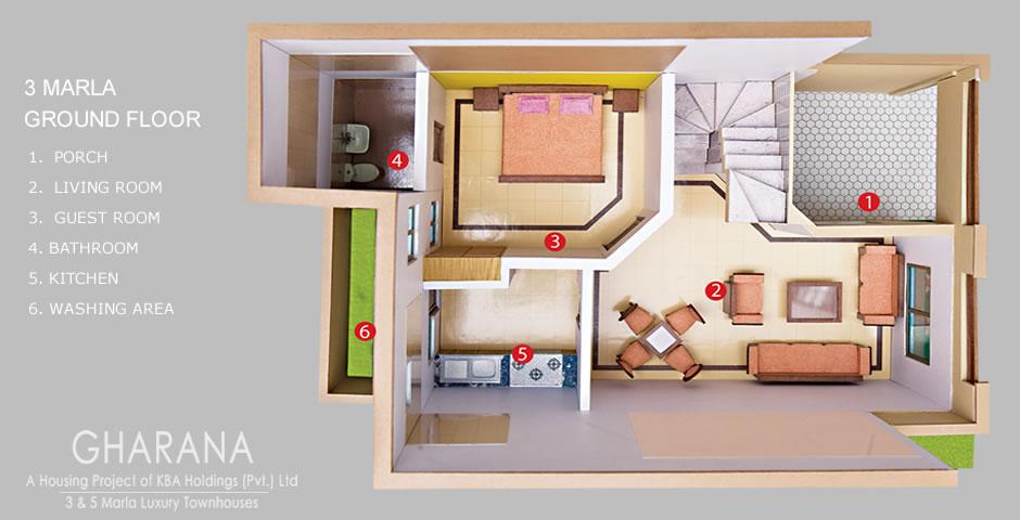3 Marla Naksha Joy Studio Design Gallery Best