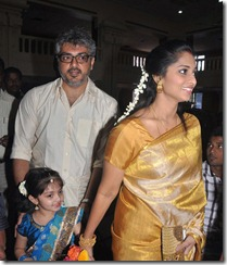 Ajith Shalini Anoushka Recent Photos at Shiva Wedding Ceremony