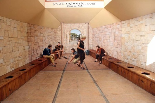 Puzzling-World-Wanaka-Roman-Bathroom