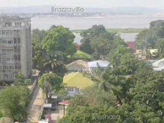 Une vue de la rive droite du fleuve Congo, à Brazzaville, à partir de KInshasa (Archives).