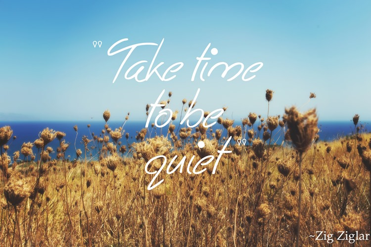 take time to be quiet, quote
