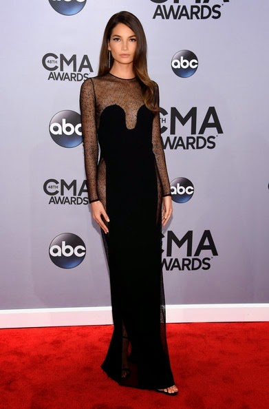 Lilly Aldridge attends the 48th annual CMA Awards