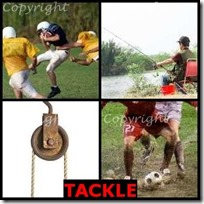 TACKLE- 4 Pics 1 Word Answers 3 Letters