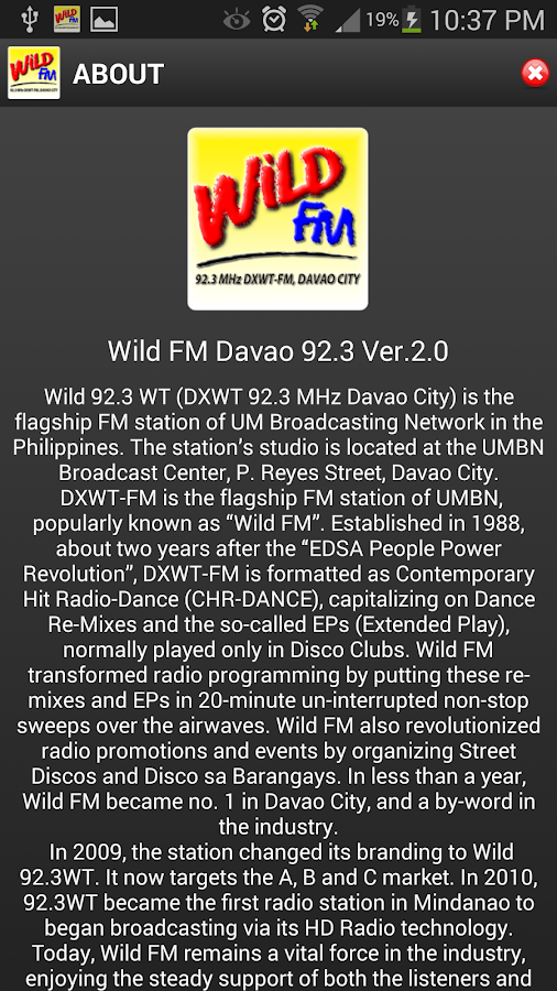 Wild FM Davao 92.3 MHz - screenshot
