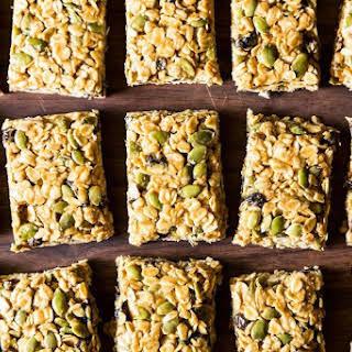 Five Minute, No-Bake Vegan Granola Bars.
