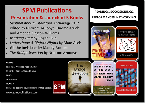 BOOKLAUNCH MARCH 2013 FLYER