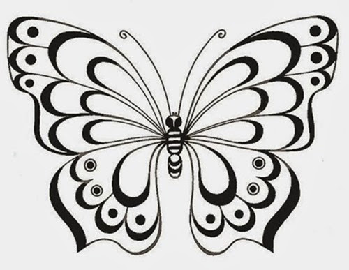 18 Desenhos De Borboletas Para Bordar Ou Desenhar Desenhos E Riscos