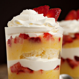 Lemon-Strawberry Parfaits.