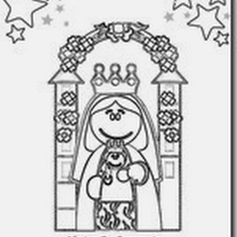 Colorear Virgen De Coromoto Patrona De Venezuela