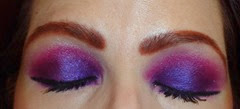 Look1 with Urban Decay Electric Palette_eyes closed