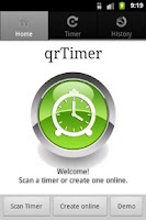 Screenshot of qrTimer
