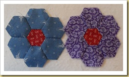 Purple and blue hexagons