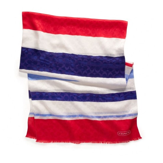 LEGACY WEEKEND STRIPE OBLONG SCARF from COACH