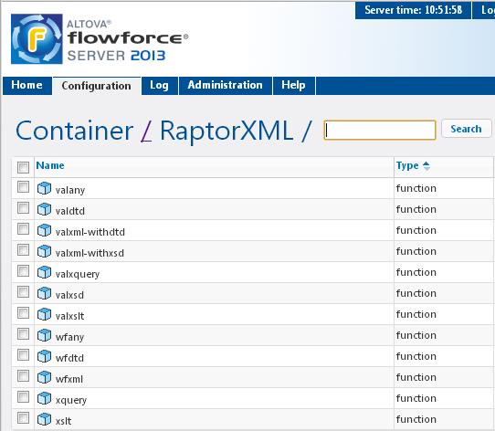 RaptorXML functions