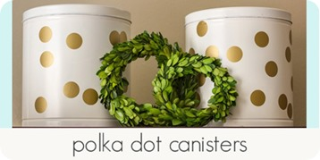polka dot canisters