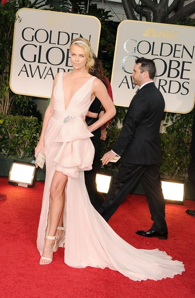 Charlize Theron arrives at the 69th Annual Golden Globe Awards