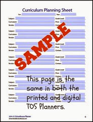 Curriclum Planning Sheet SAMPLE  Digital, Paper or Both