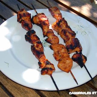 Chicken Skewers Caldoche-Style.