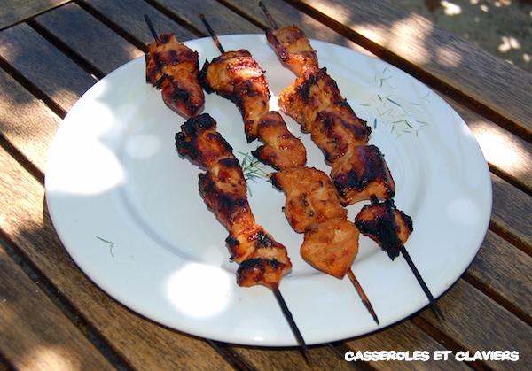Chicken Skewers Caldoche-Style