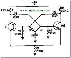 Gambar Bistabil Multivibrator