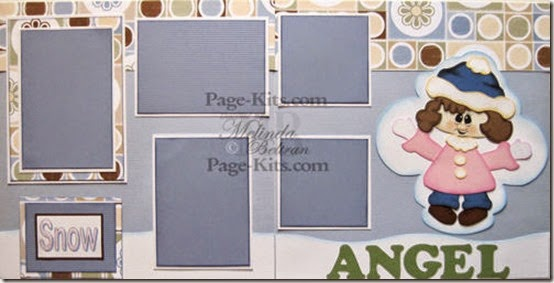 snow angel girl page kit-500
