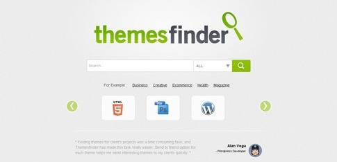 Themes Finder