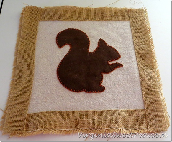 Squirrel Pillow in progress