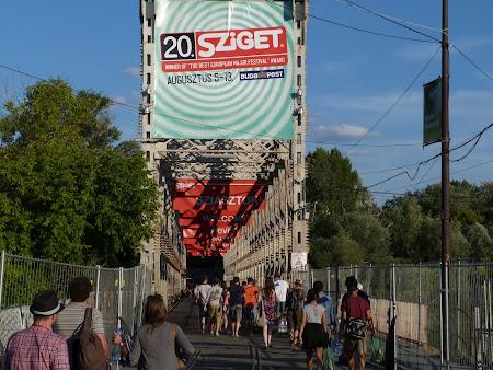 Intrarea la festivalul Sziget