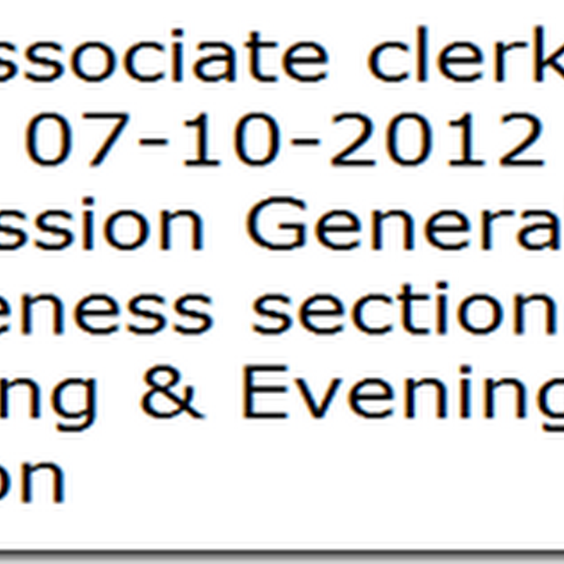 sbi associate clerk exam discussion held on 07-10-2012 General Awareness paper