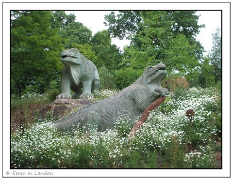 Dinosaurs in Crystal Palace Park