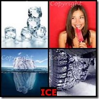 ICE- 4 Pics 1 Word Answers 3 Letters