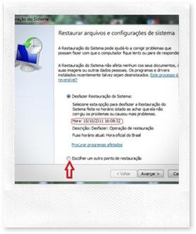restaurar arquivo de configuraçaõ do sistema
