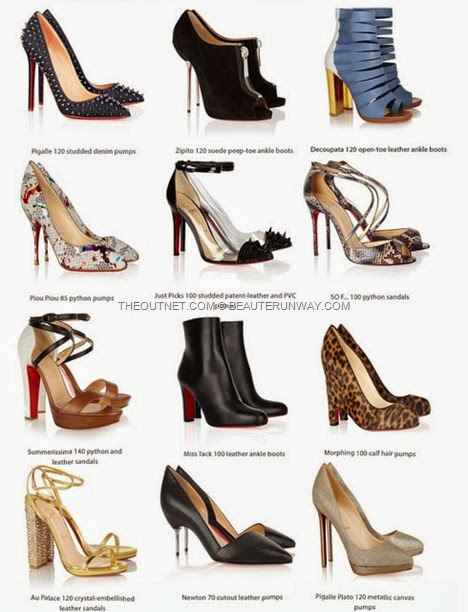 CHRISTIAN LOUBOUTIN SHOES THEOUTNET.COM SALE OUTLET DESIGNER  studded Pigalle, crystals embellished, cut out leather, ankle boots. python sandals, loafers red sole celebrity and fashionista FOOTWEAR