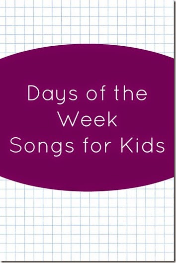 Days of the week songs for kids on youtube - these are such a cute way for toddler, preschool, and kindergarten age kids to learn the days of the week!