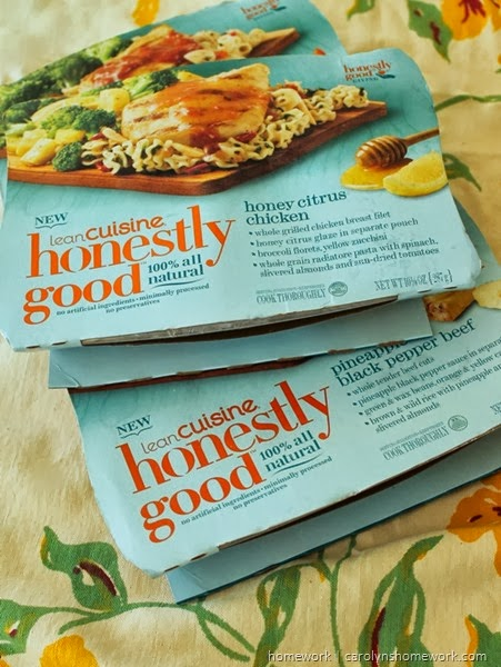 Lean Cuisine Honestly Good and healthy eating tips via homework | carolynshomework.com
