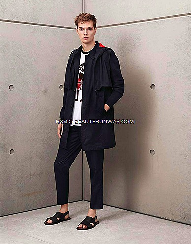 Marni H&M Mens Parka, Tee shirt, Trousers, Mens Black Leather Sandals