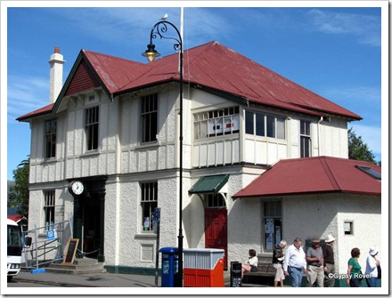 Akaroa's old Post Office now used by Christchurch City Council but closed due to earthquake damage.