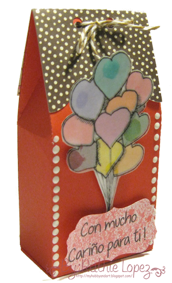 San Valentin - Valentine´s Day - Treat Box - Silhouette - Color Paws - Ruthie Lopez