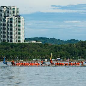 Dragon Boat Race by Wong Koh - News & Events Sports ( dragon boat, likas, tanjung lipat, sea, sabah )