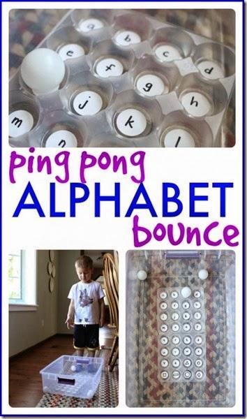 Ping Pong Alphabet Bounce #alphabet #preschool