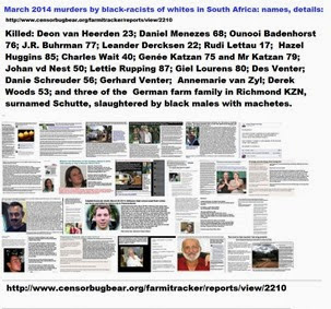 2014marchMurdersByBlackRacistsOfWhiteSouthAfricansNames