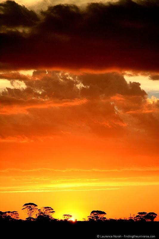 Sunset outback australia