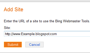 submit blog to bing