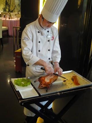Canard laqué au Da Dong Roast Duck Restaurant à Beijing